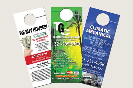 Full Color Door Hangers Your 1 Source for Printing Graphic