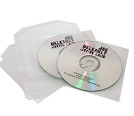 CD Duplication & Print with Clear Vinyl Plastic Sleeves